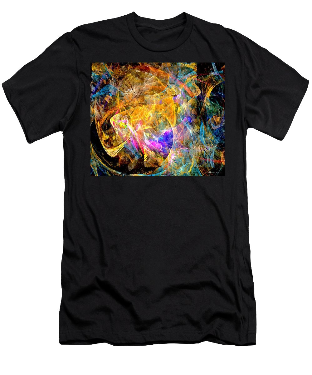 Graphics Men's T-Shirt (Athletic Fit) featuring the digital art Abs 0397 by Marek Lutek