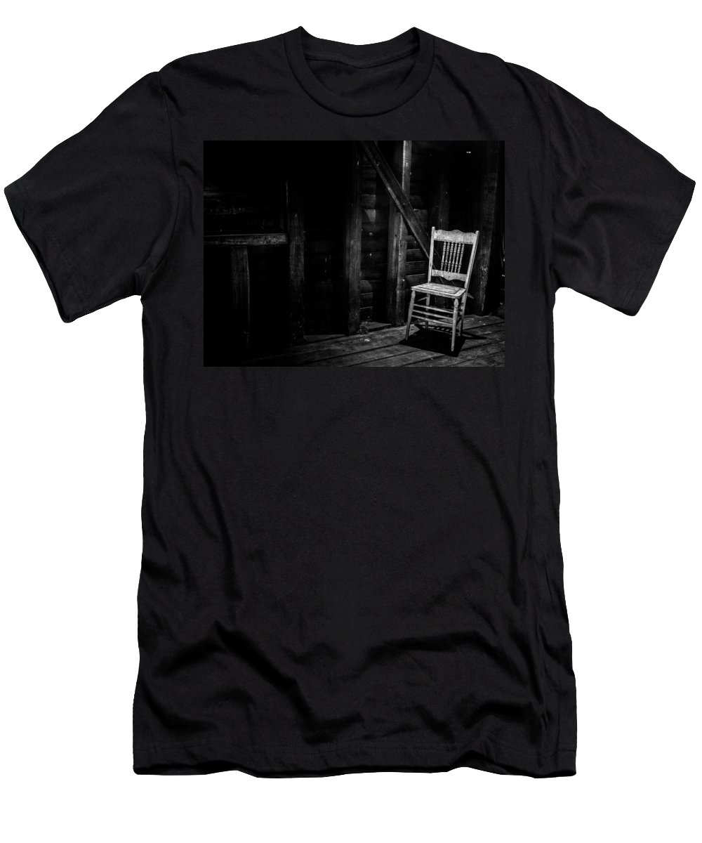 Chair Men's T-Shirt (Athletic Fit) featuring the photograph Absentia by Kaleidoscopik Photography
