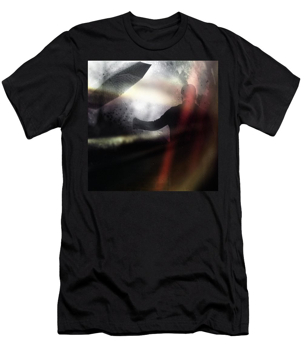 Rain Men's T-Shirt (Athletic Fit) featuring the photograph Absolute Elsewhere by Zapista