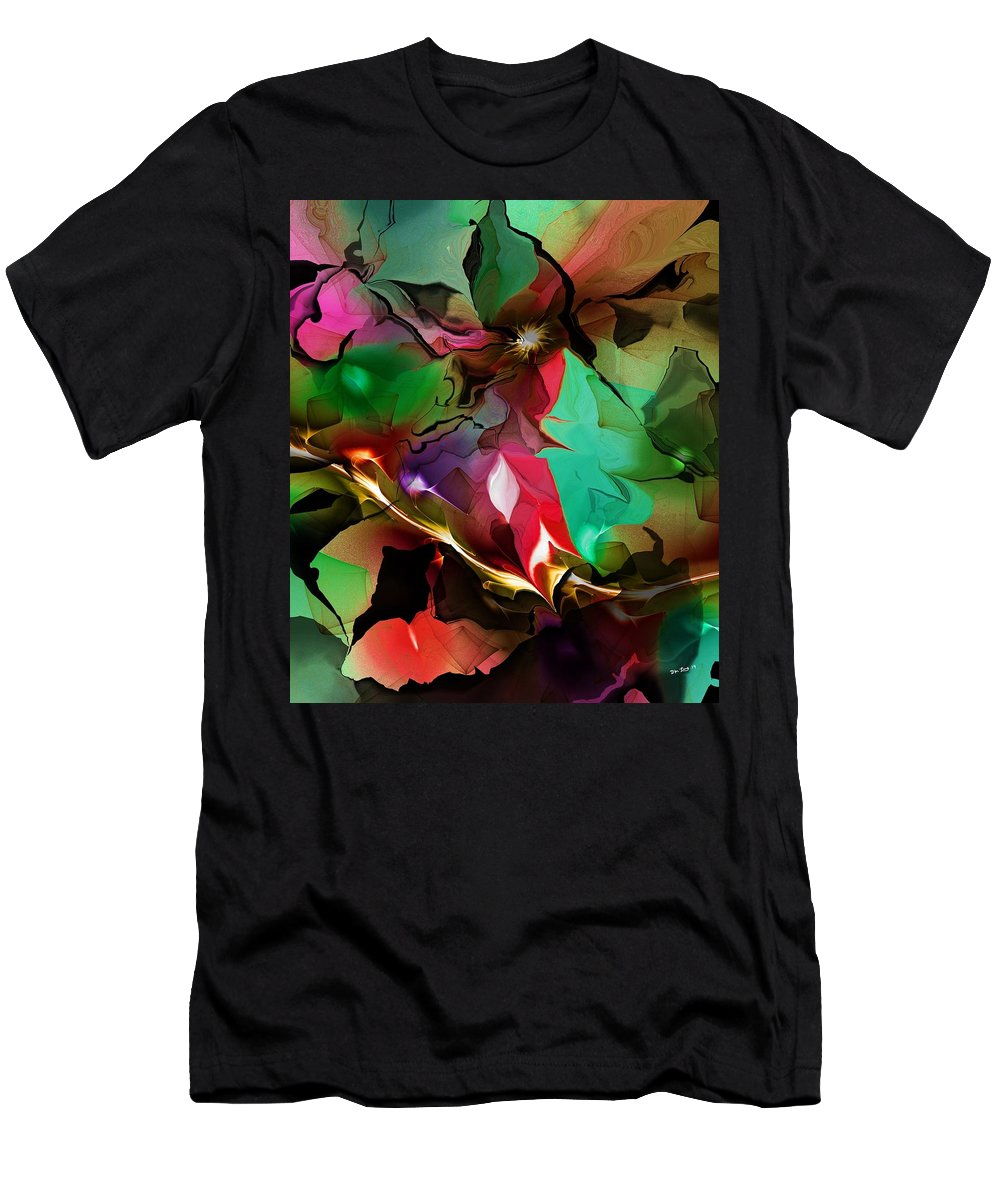 Fine Art Men's T-Shirt (Athletic Fit) featuring the digital art Abstract 022114fa by David Lane