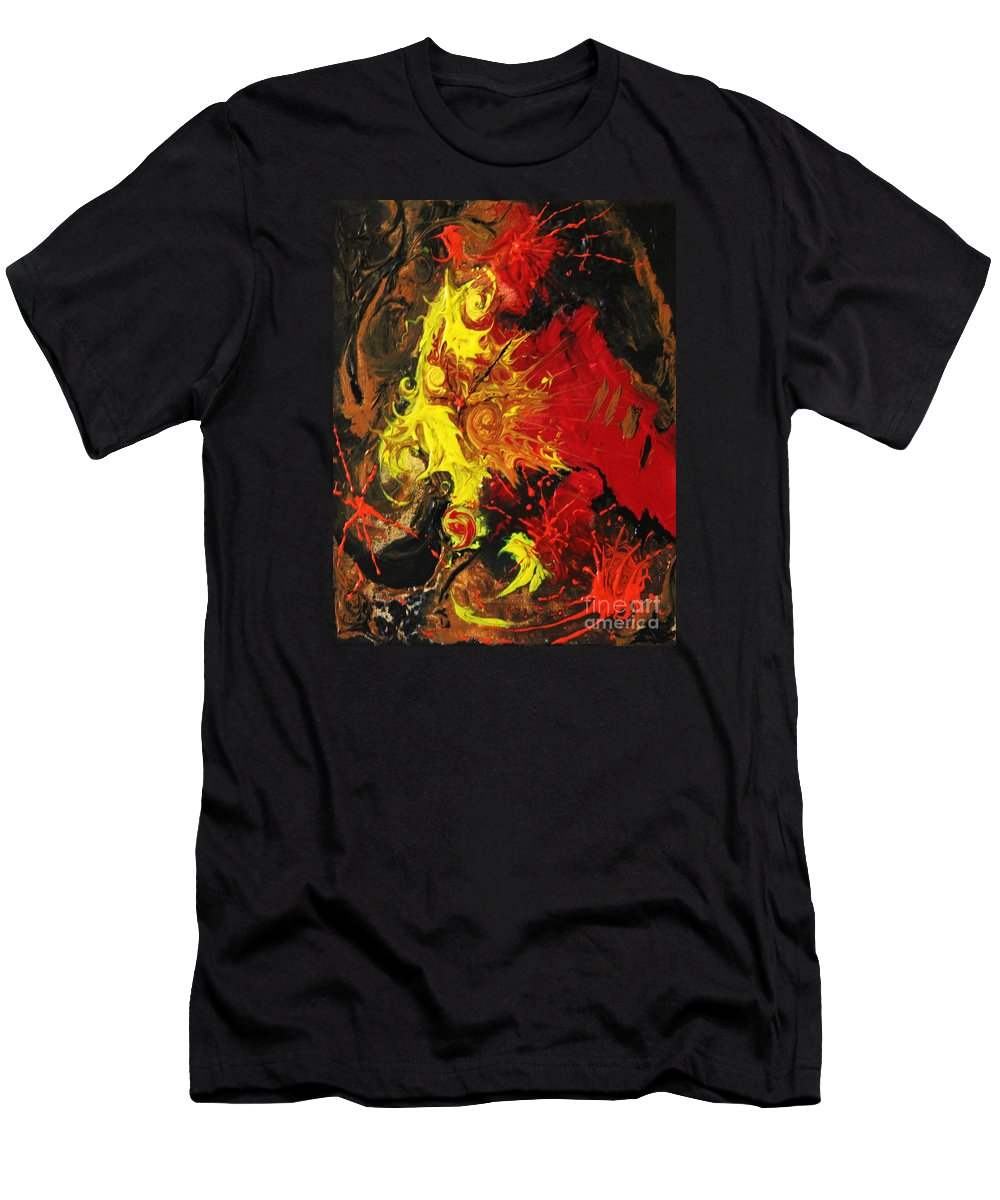 Abstract Men's T-Shirt (Athletic Fit) featuring the painting Abstract #15 by D L Gerring