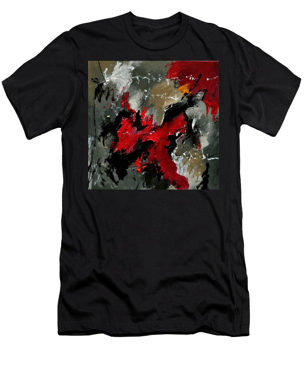 Abstract Men's T-Shirt (Athletic Fit) featuring the painting Abstract 3341201 by Pol Ledent