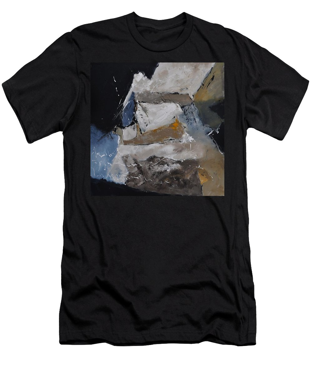 Abstract Men's T-Shirt (Athletic Fit) featuring the painting Abstract 8831102 by Pol Ledent