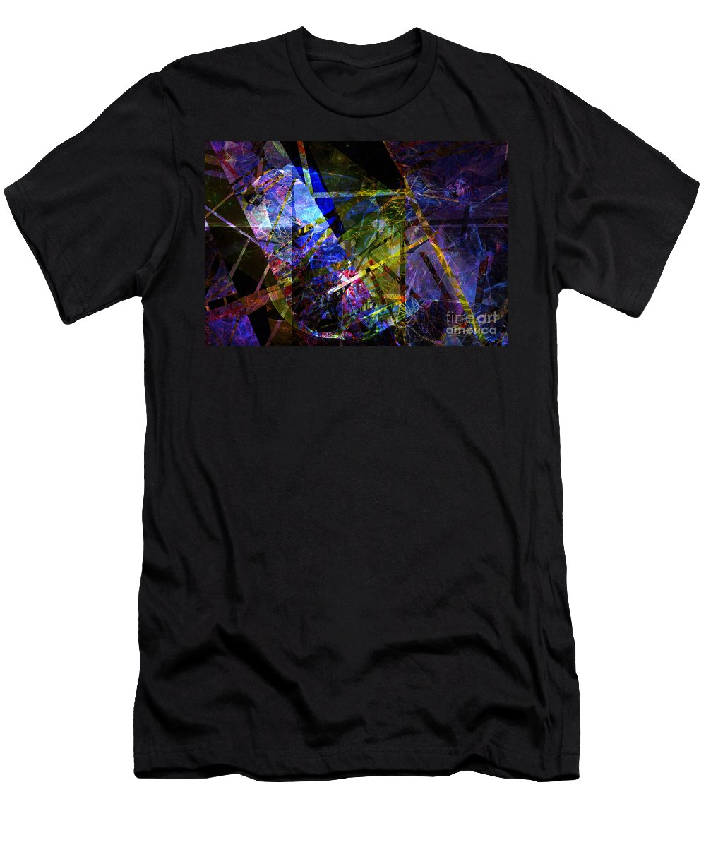 Abstract Men's T-Shirt (Athletic Fit) featuring the digital art Abstract Composite 1 by Russell Kightley