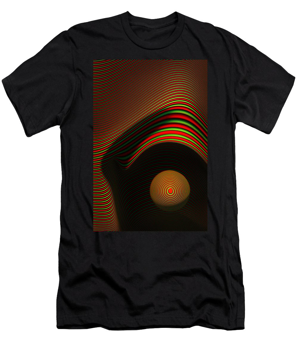 Eye Men's T-Shirt (Athletic Fit) featuring the digital art Abstract Eye by Johan Swanepoel