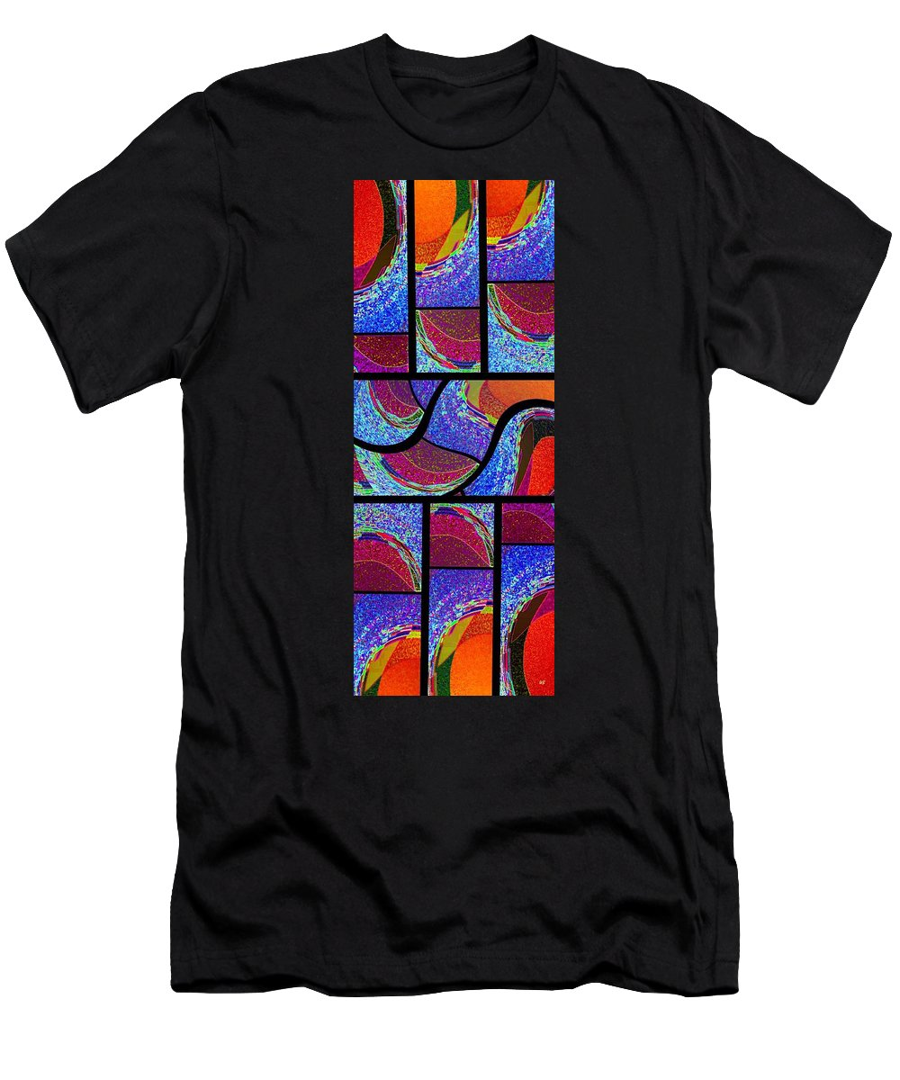 Abstract Fusion Men's T-Shirt (Athletic Fit) featuring the digital art Abstract Fusion 168 by Will Borden