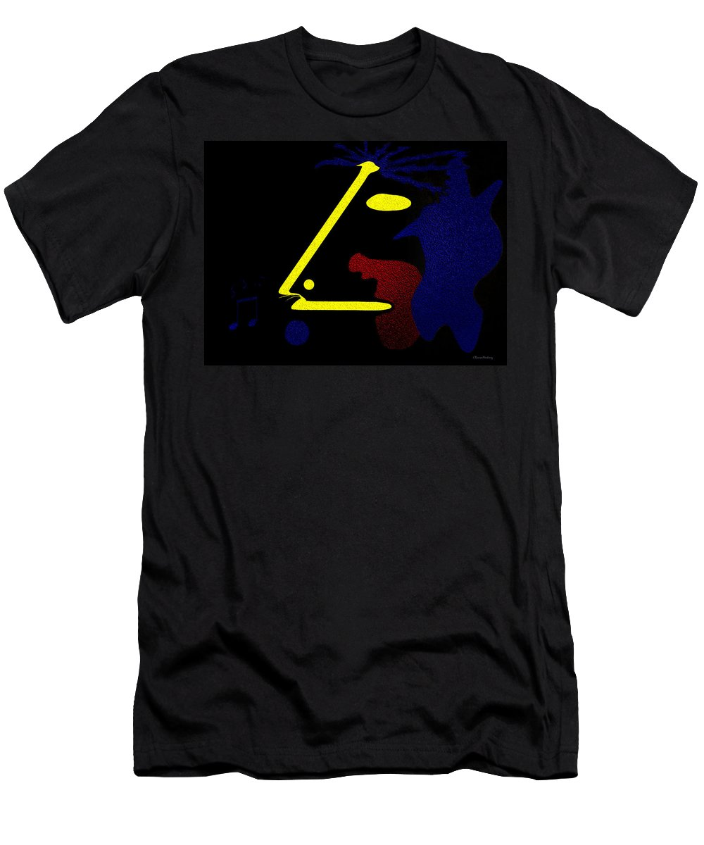 Abstract Men's T-Shirt (Athletic Fit) featuring the digital art Abstract Music by Ramon Martinez