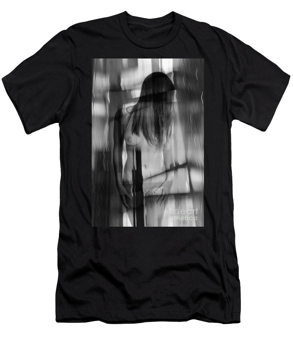 Woman Men's T-Shirt (Athletic Fit) featuring the photograph Abstract Nude Woman 4 by Jochen Schoenfeld