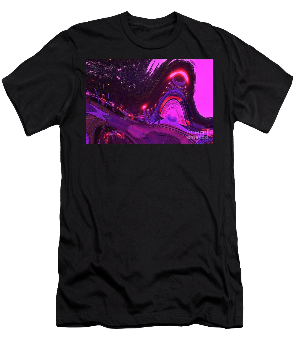 Blair Stuart Men's T-Shirt (Athletic Fit) featuring the digital art Abstract Street Scene by Blair Stuart