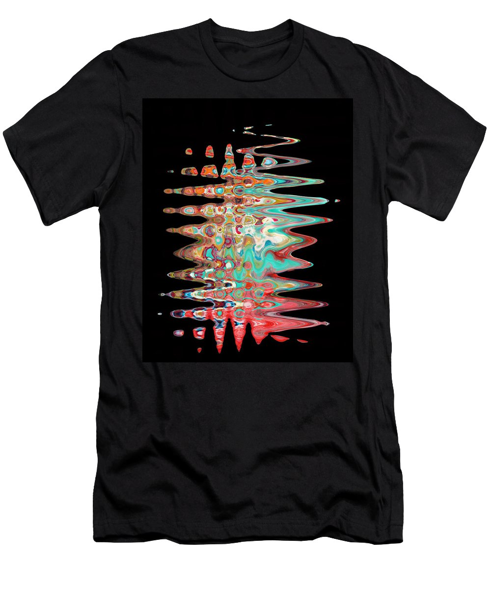 Abstract Men's T-Shirt (Athletic Fit) featuring the digital art Abstract Twenty One Of Twenty One by Carl Deaville