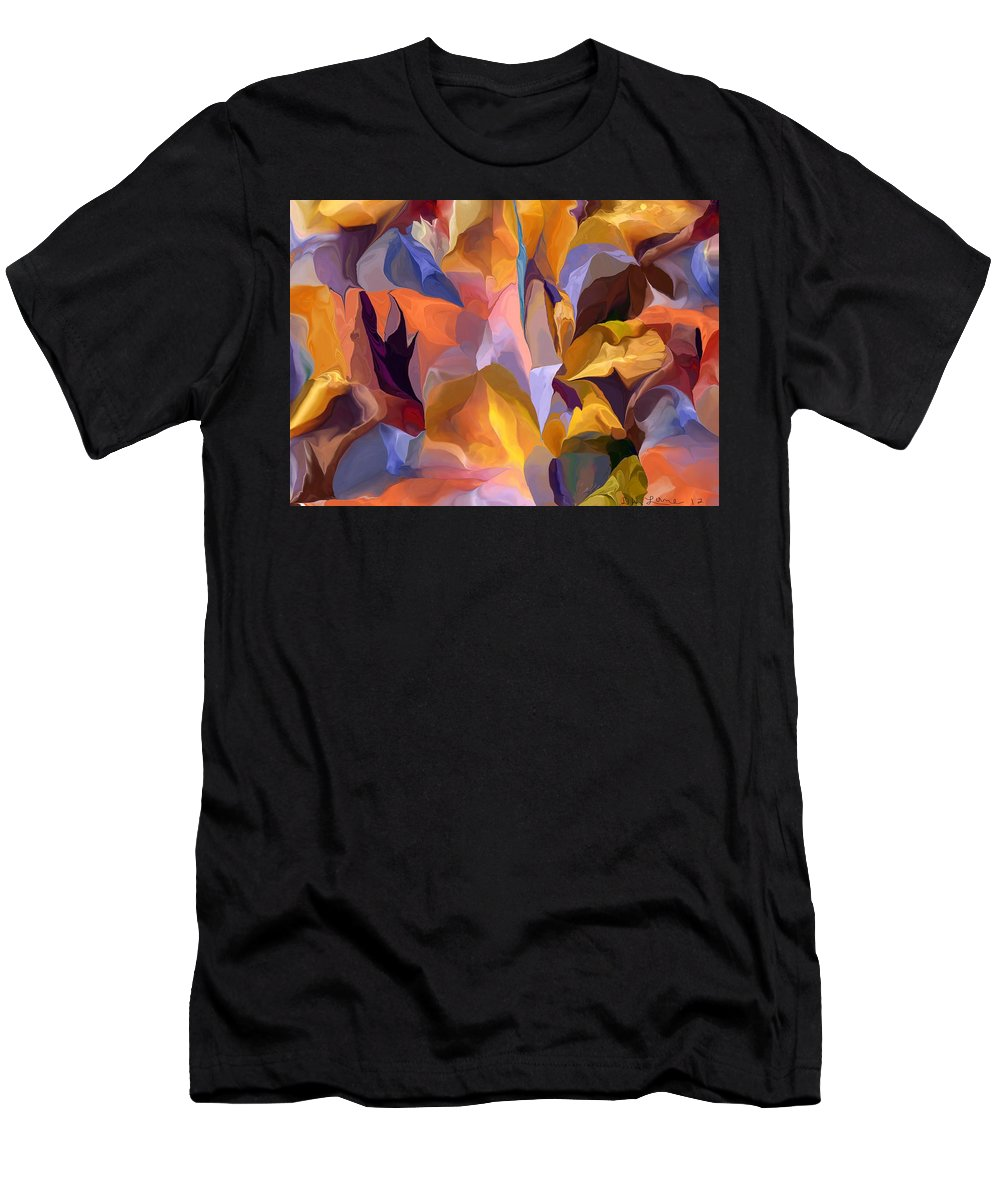 Fine Art Men's T-Shirt (Athletic Fit) featuring the digital art Abstract Vignettes by David Lane