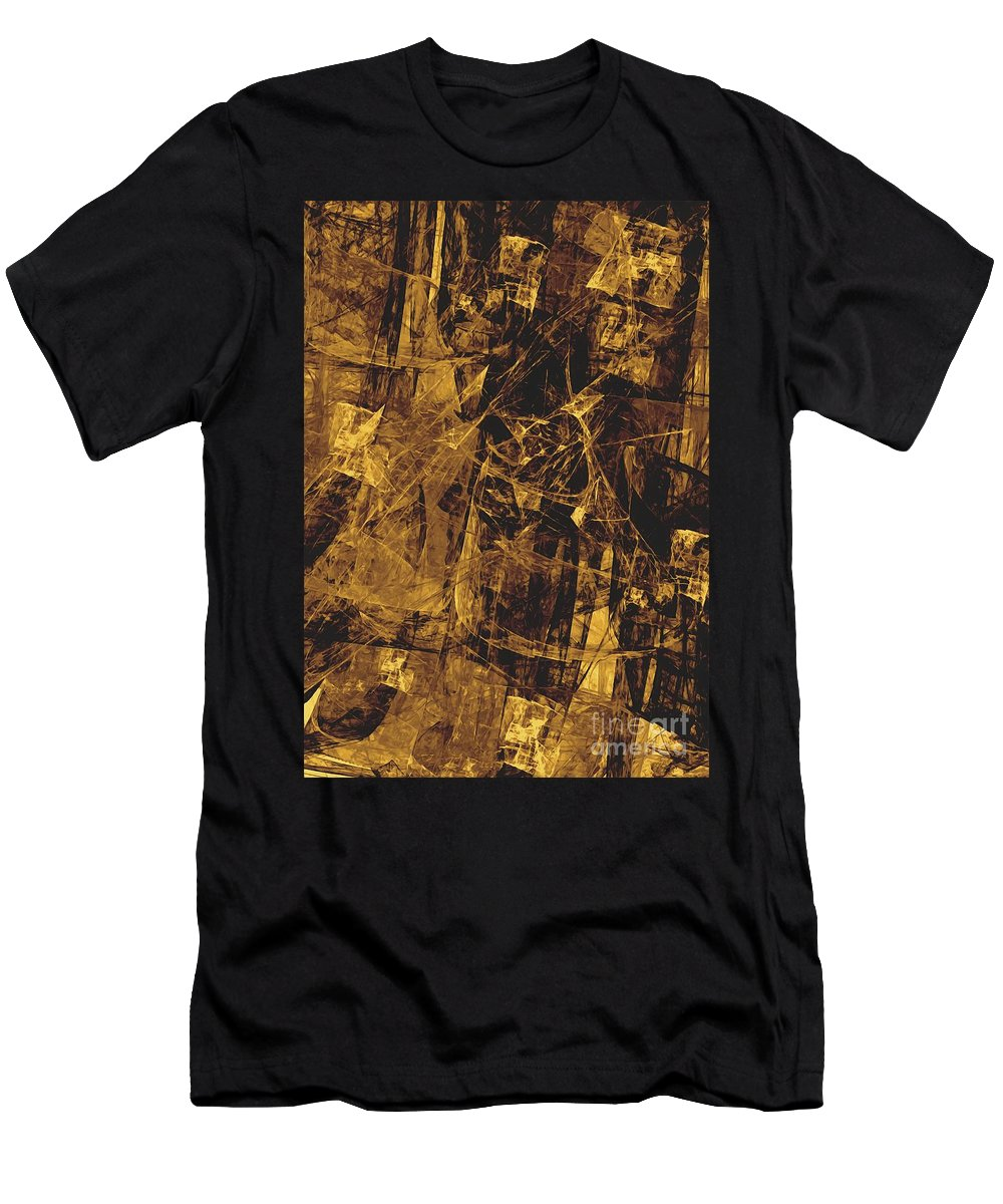 Graphics Men's T-Shirt (Athletic Fit) featuring the digital art Abstraction 0252 Marucii by Marek Lutek