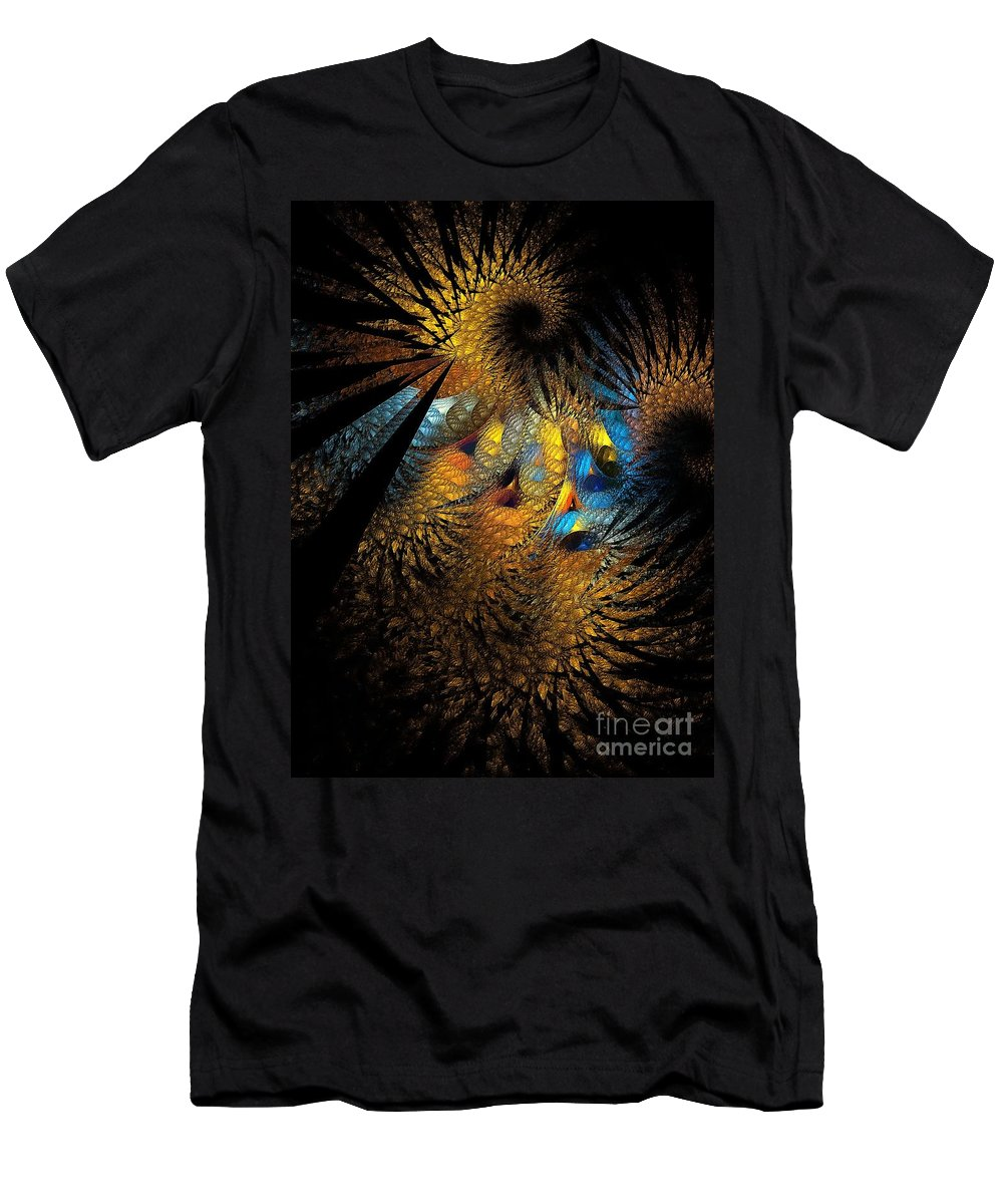 Figure Men's T-Shirt (Athletic Fit) featuring the digital art Abstraction 252-05-13 Marucii by Marek Lutek