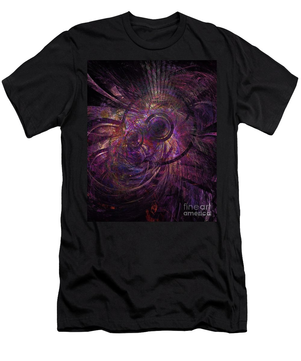 Abstract Men's T-Shirt (Athletic Fit) featuring the digital art Abstraction 426-08-13 Marucii by Marek Lutek