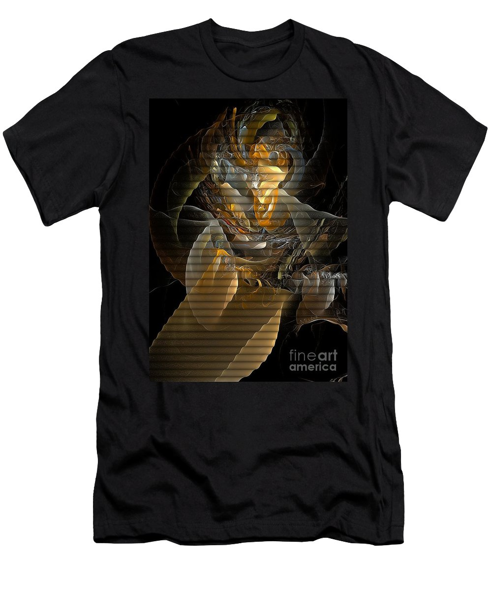 Abstract Men's T-Shirt (Athletic Fit) featuring the digital art Abstraction 560-11-13 Marucii by Marek Lutek