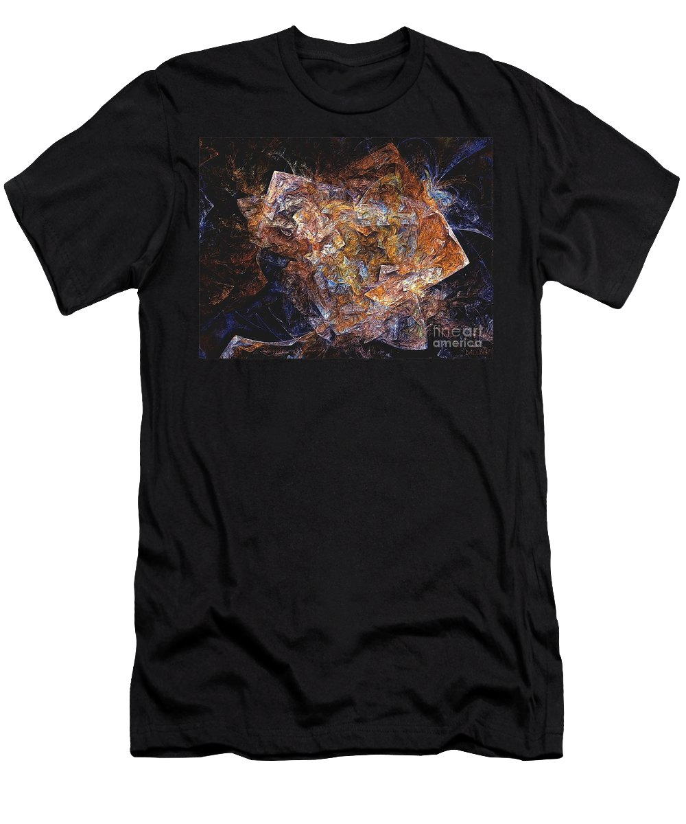 Abstract Men's T-Shirt (Athletic Fit) featuring the digital art Abstraction 562-11-13 Marucii by Marek Lutek