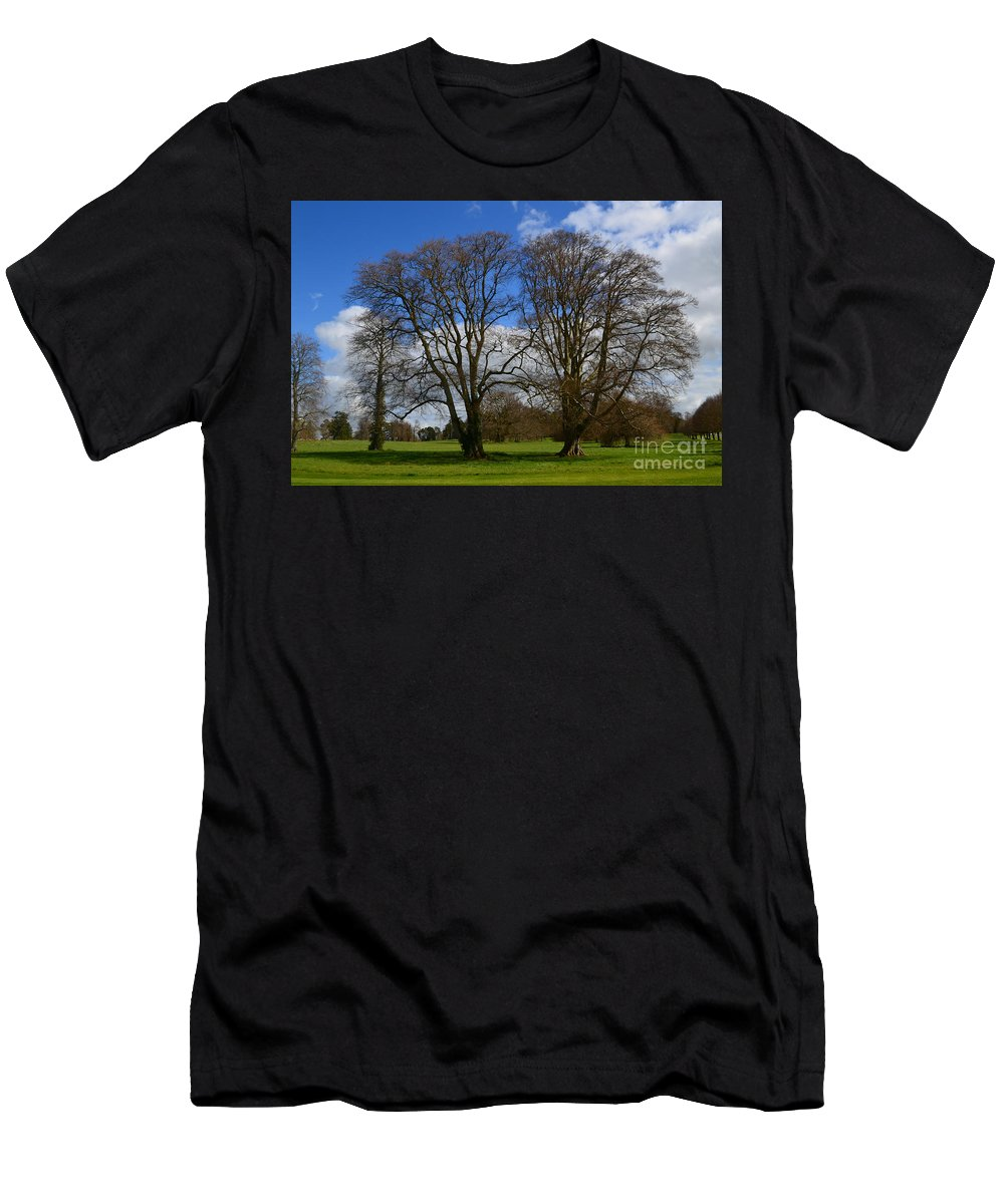 Irieland Men's T-Shirt (Athletic Fit) featuring the photograph Adare Manor Grounds by DejaVu Designs