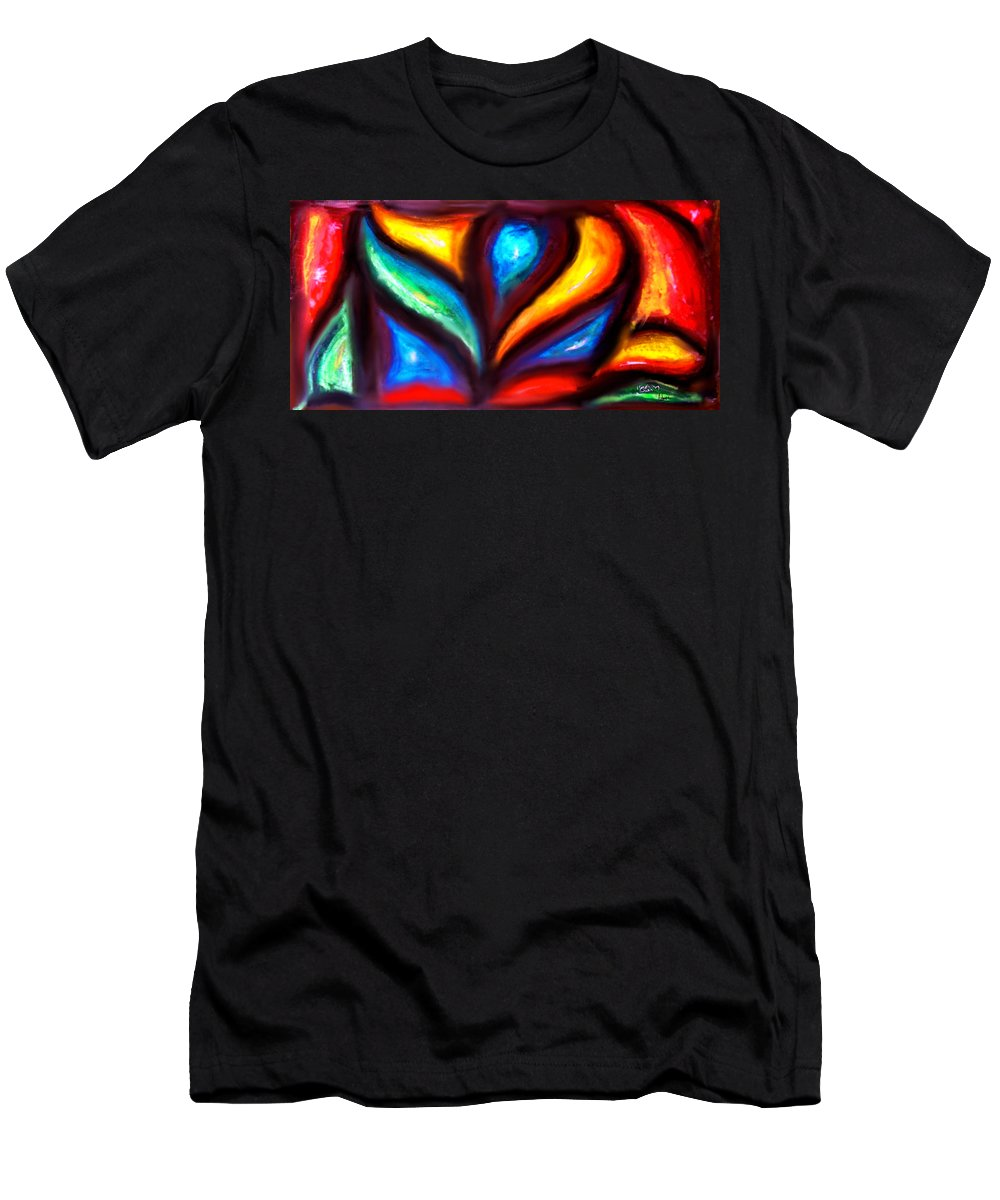 Abstract Men's T-Shirt (Athletic Fit) featuring the painting Adesso - Marcello Cicchini by Marcello Cicchini
