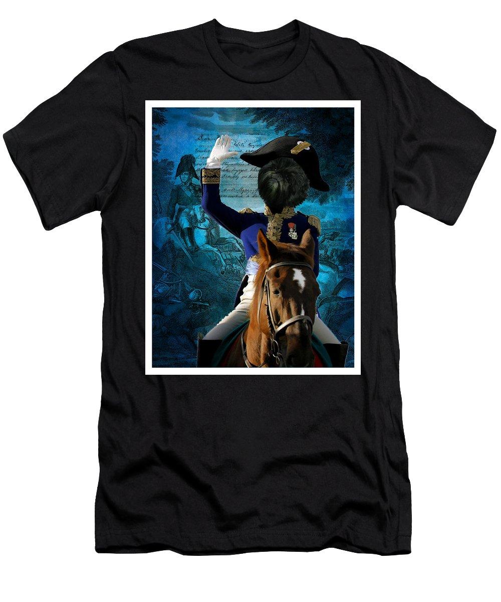 Affenpinscher Art Men's T-Shirt (Athletic Fit) featuring the painting Affenpinscher Art By Nobility Dogs by Sandra Sij