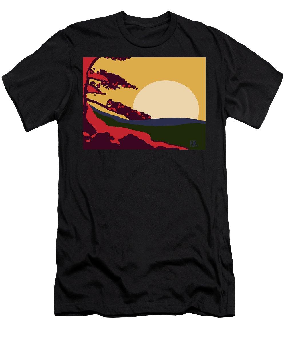 Landscape Men's T-Shirt (Athletic Fit) featuring the digital art African Landscape by Art by Kar