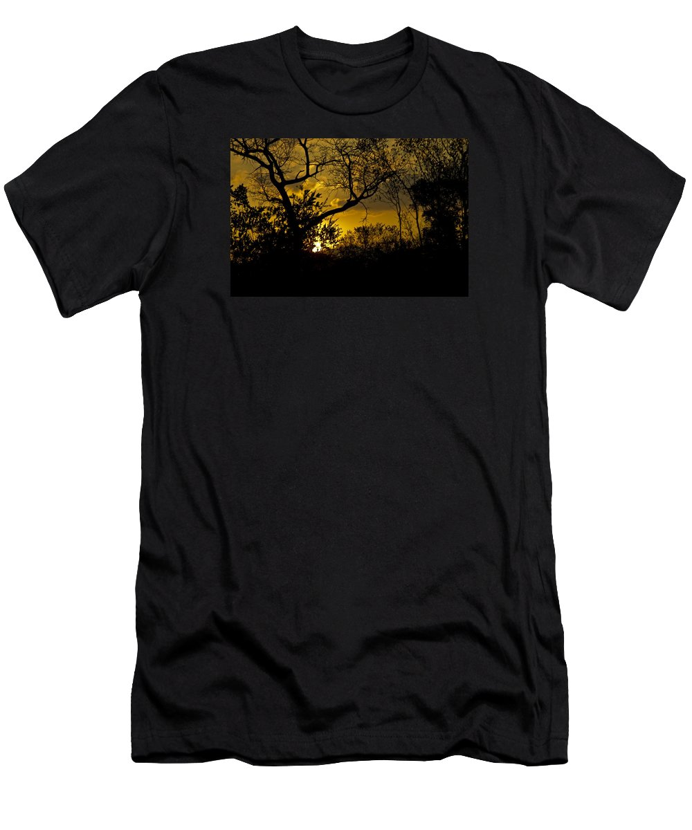 Sunset Men's T-Shirt (Athletic Fit) featuring the photograph African Sunset by John Stuart Webbstock