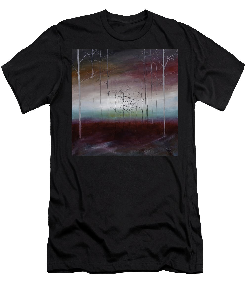 Landscape Men's T-Shirt (Athletic Fit) featuring the painting After Fall by Gray Artus