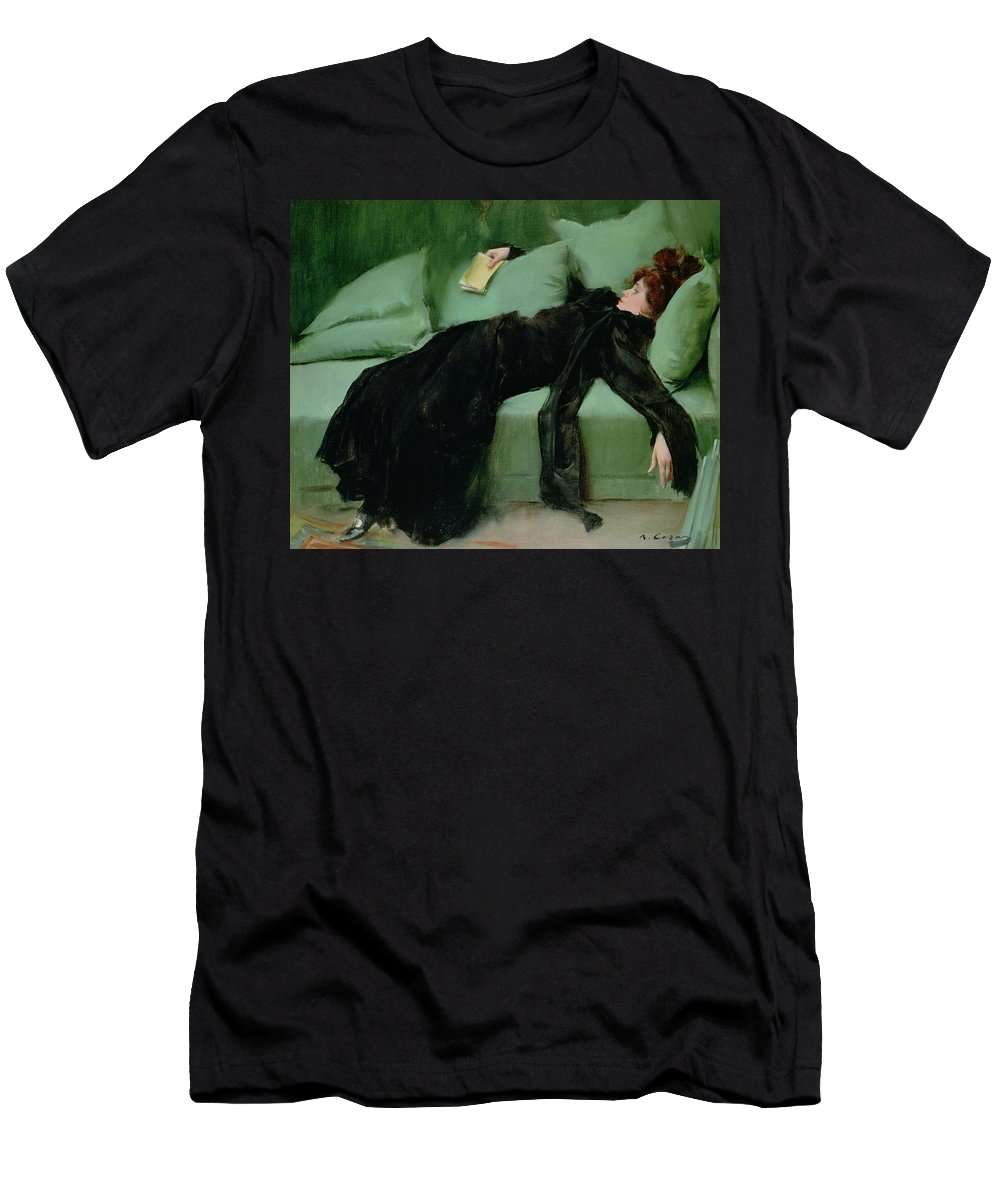 After The Ball Men's T-Shirt (Athletic Fit) featuring the painting After The Ball by Ramon Casas i Carbo