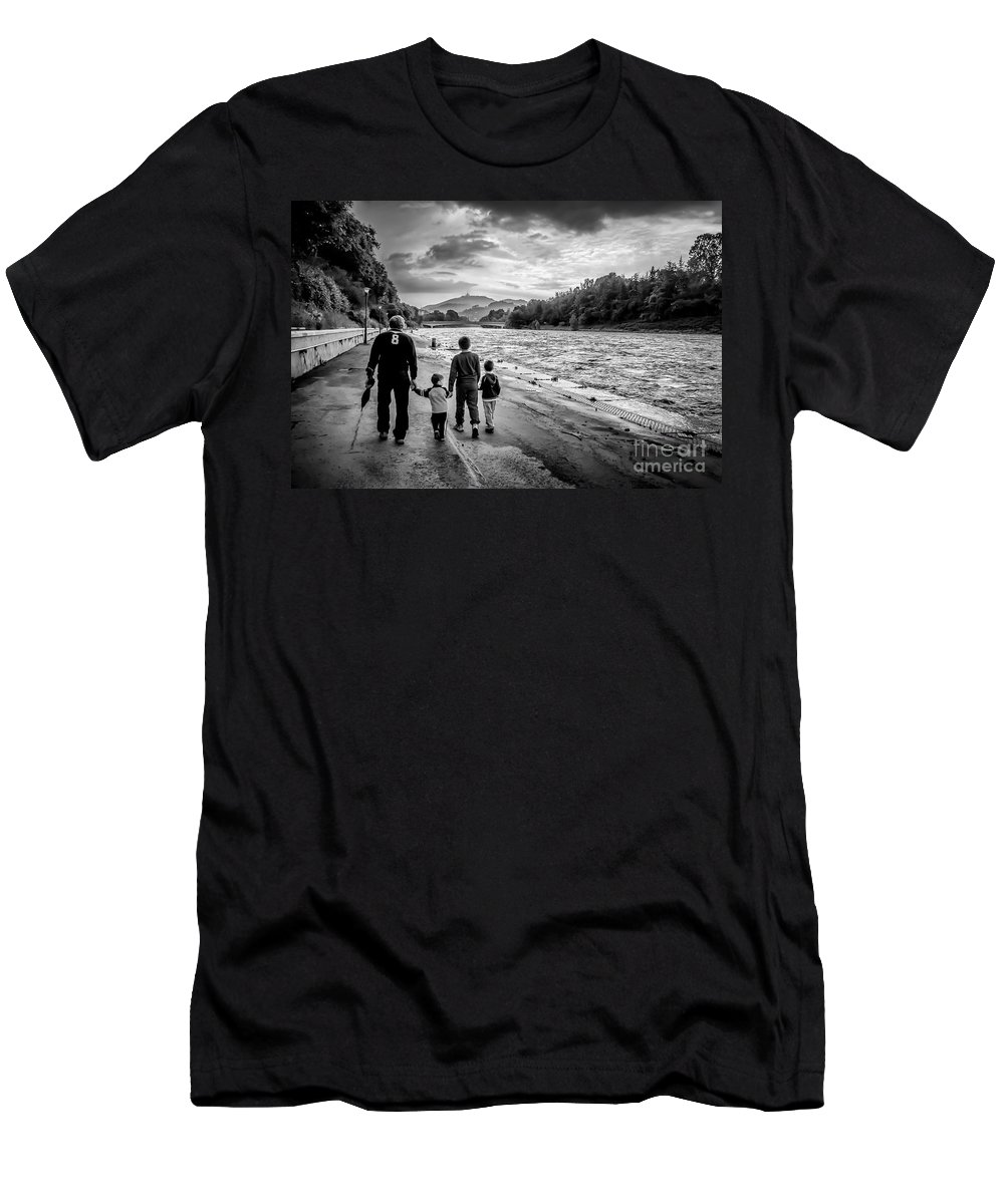 Rain Men's T-Shirt (Athletic Fit) featuring the photograph After The Rain by Giuliano Iunco