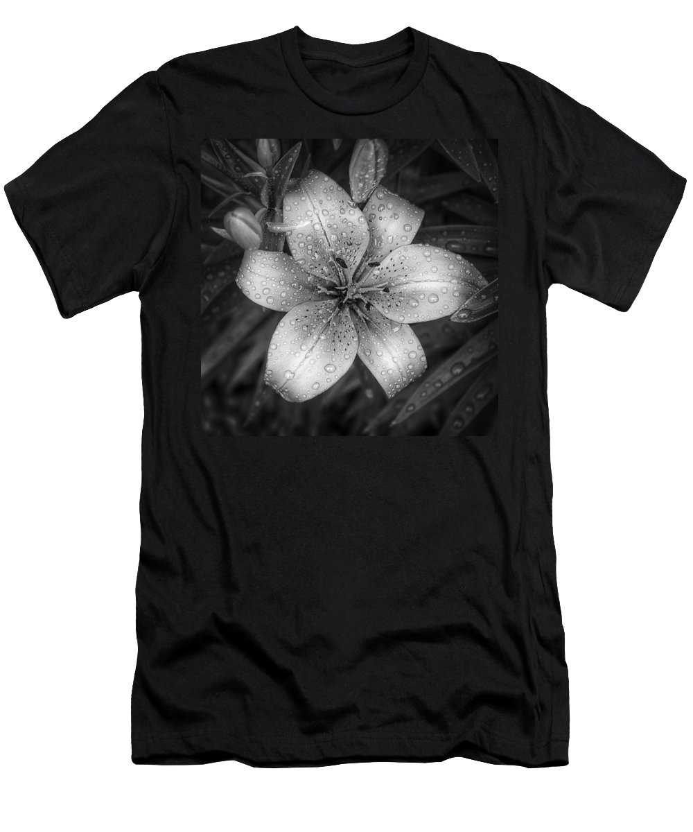 Tiger Lily Men's T-Shirt (Athletic Fit) featuring the photograph After The Rain by Scott Norris