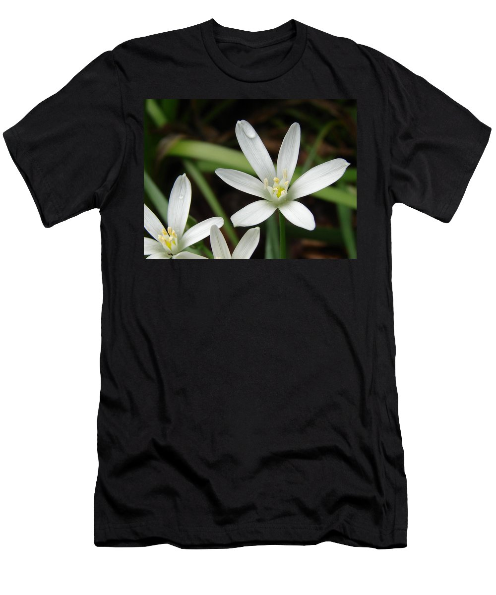 Flowers Men's T-Shirt (Athletic Fit) featuring the photograph After The Rains by Cassie Peters