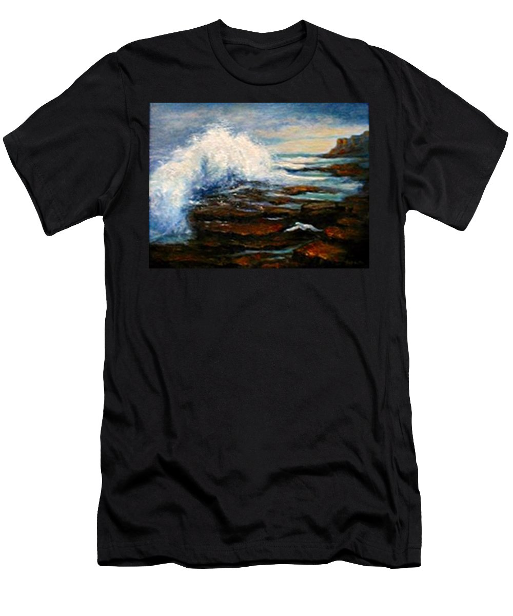 Seascape Men's T-Shirt (Athletic Fit) featuring the painting After The Storm by Gail Kirtz