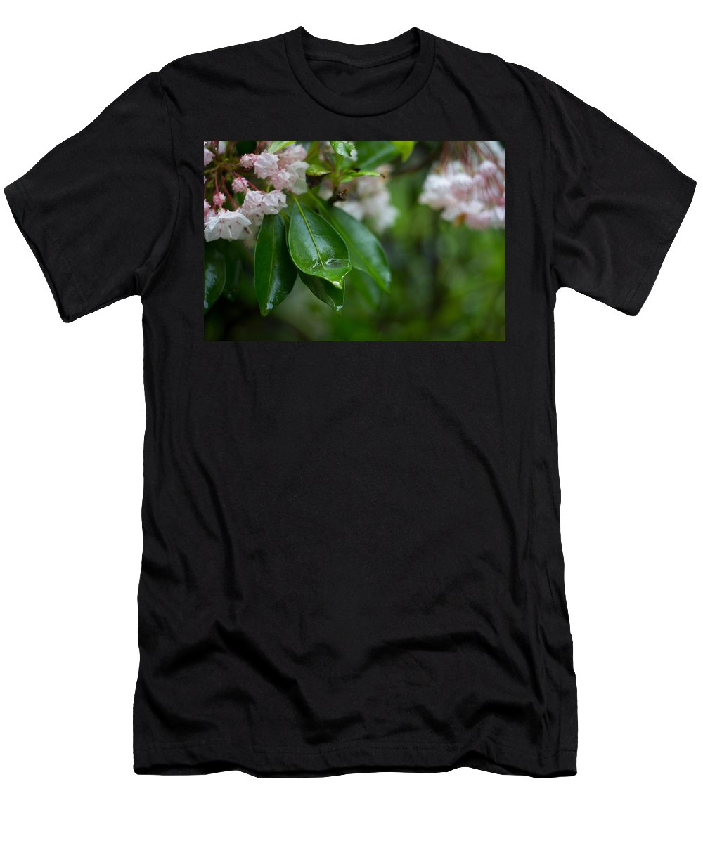 Rhododendron Men's T-Shirt (Athletic Fit) featuring the photograph After The Storm by Patrice Zinck