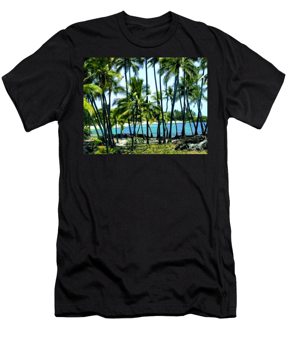 Hawaii Men's T-Shirt (Athletic Fit) featuring the photograph Afternoon At Kakaha Kai by Kurt Van Wagner