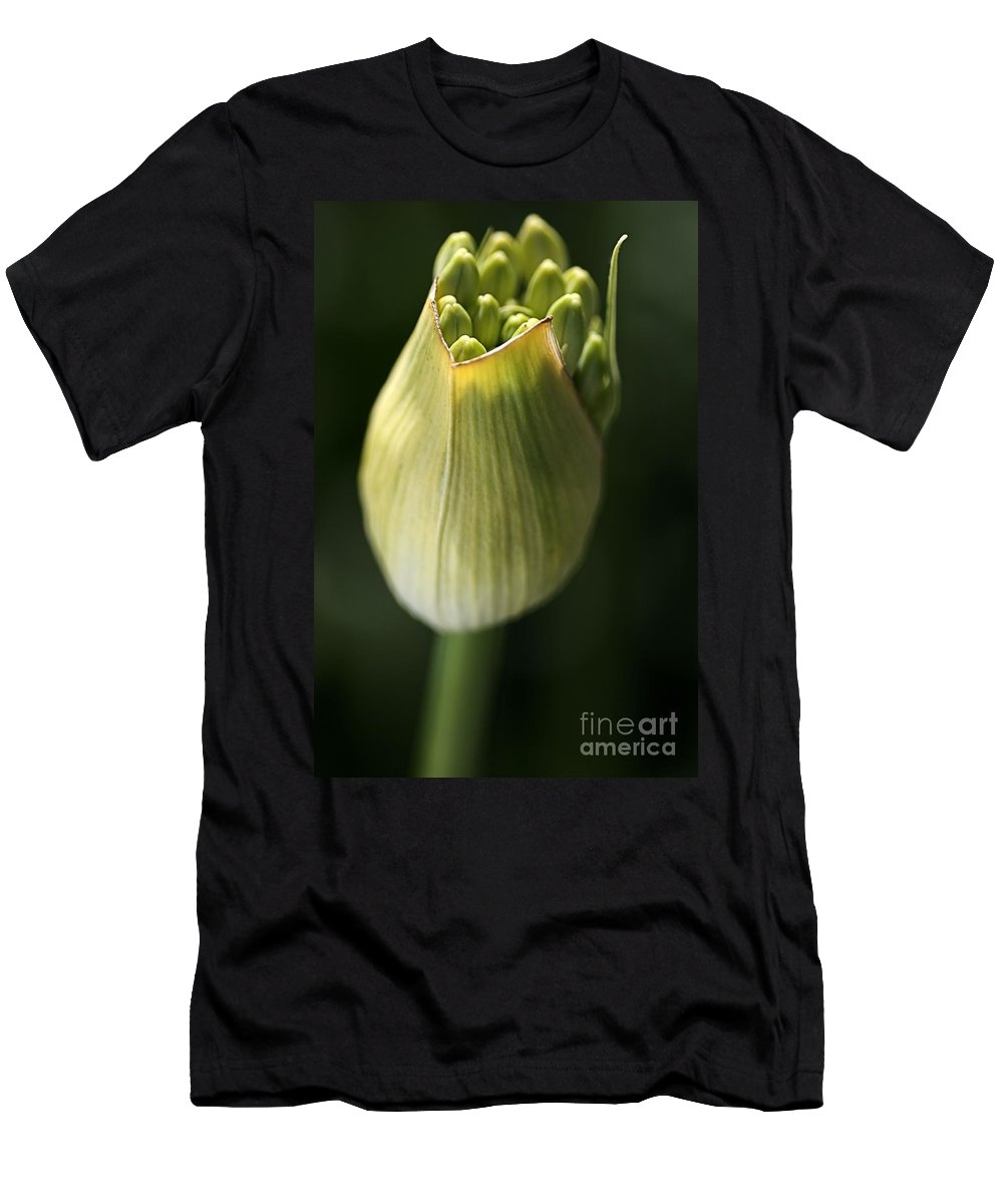Flower Men's T-Shirt (Athletic Fit) featuring the photograph Agapanthus In The Daylight by Joy Watson