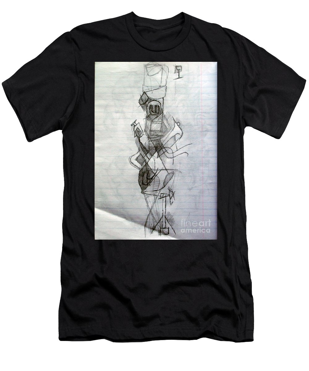 Torah Men's T-Shirt (Athletic Fit) featuring the drawing Self-renewal 23 by David Baruch Wolk