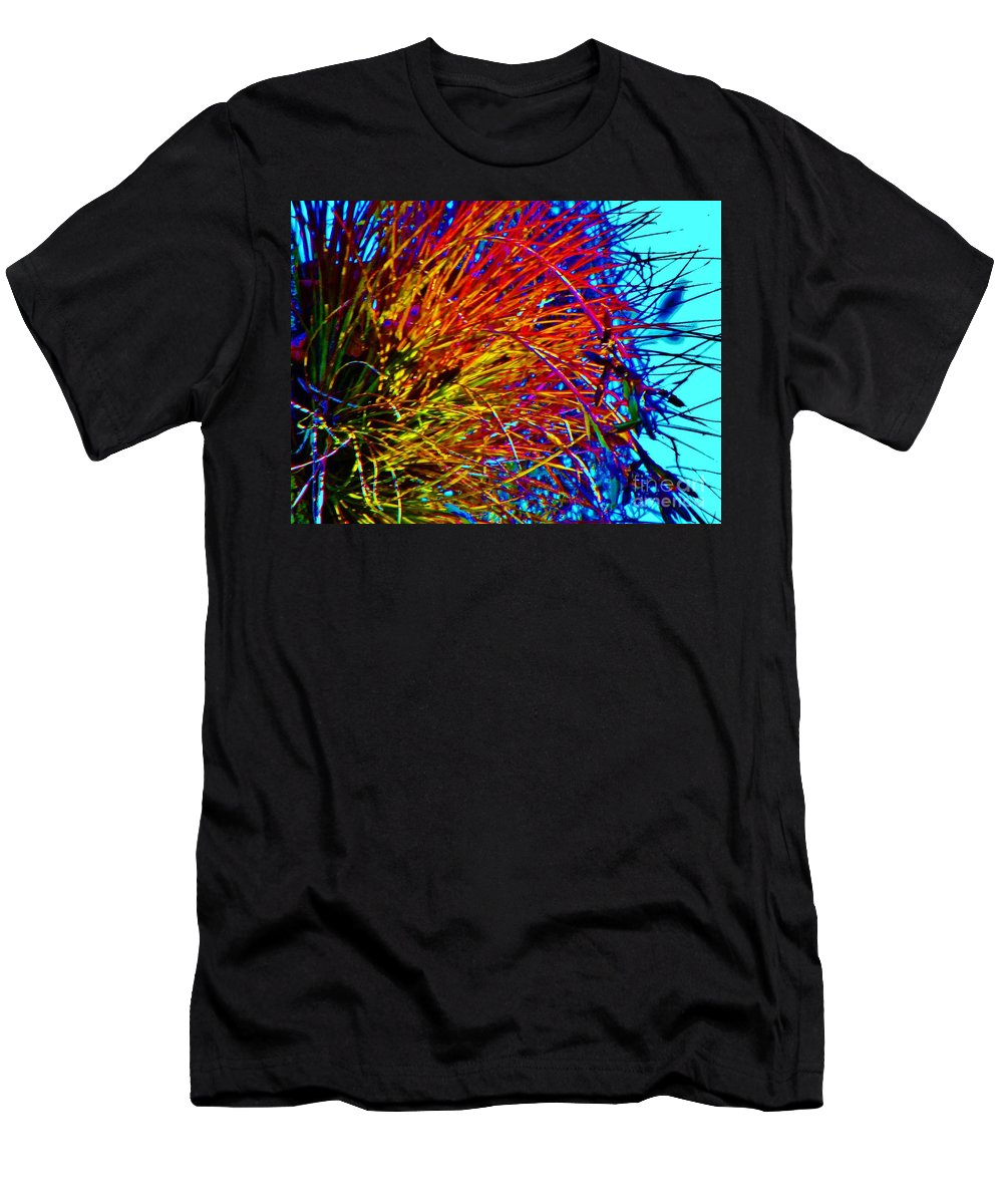 Air Plant Men's T-Shirt (Athletic Fit) featuring the photograph Air Plant On Fire by Keri West