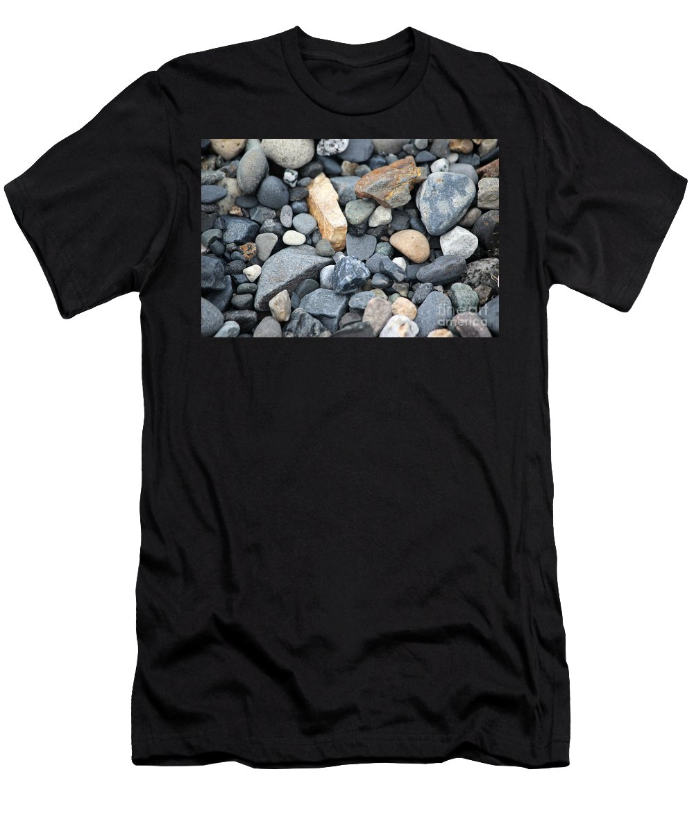 Rock Men's T-Shirt (Athletic Fit) featuring the photograph Alaskan Sand II by Stacey May