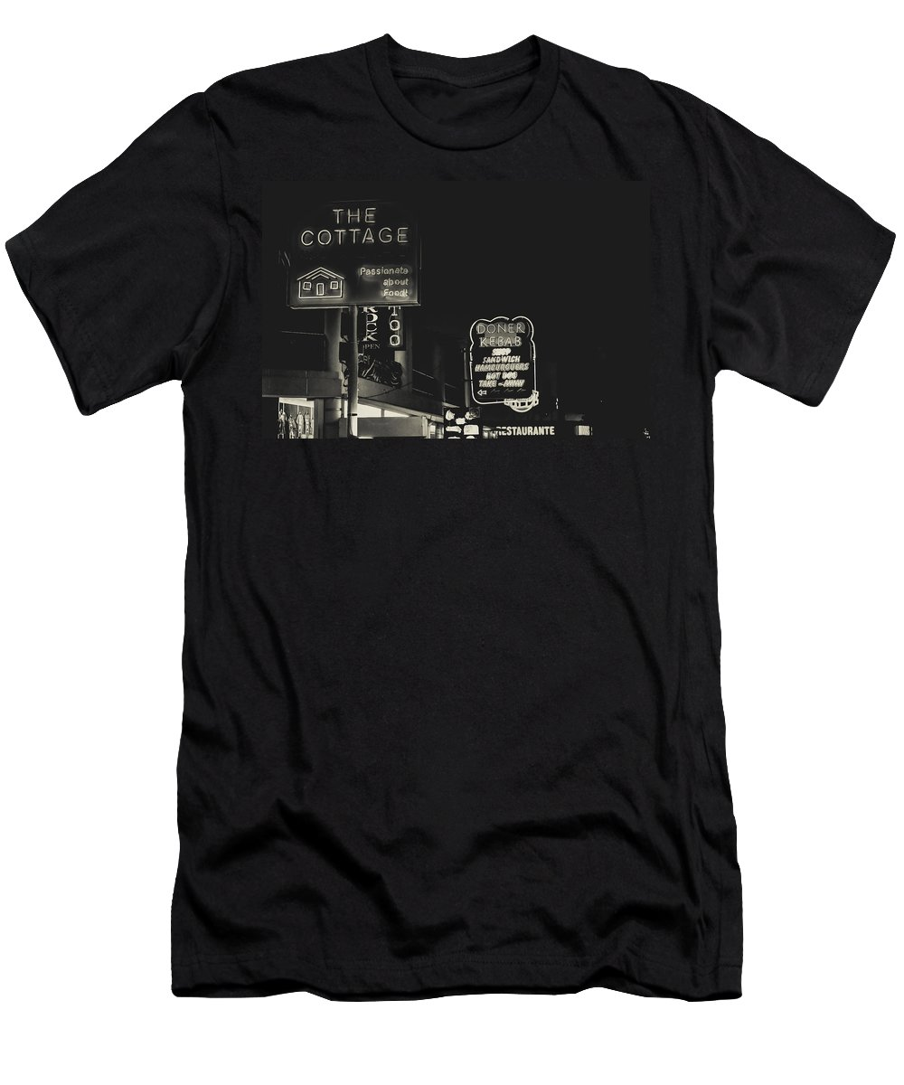 Street Men's T-Shirt (Athletic Fit) featuring the photograph Albufeira Street Series - The Cottage II by Marco Oliveira