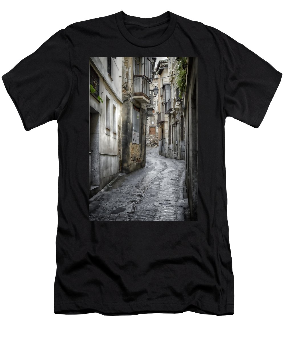 Ancient Men's T-Shirt (Athletic Fit) featuring the photograph Alfileritos by Joan Carroll