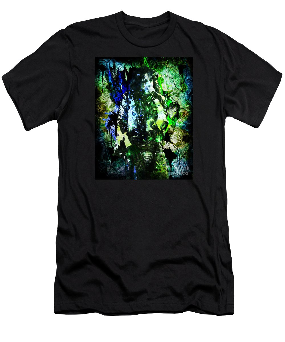 a5d5b911a Music Men's T-Shirt (Athletic Fit) featuring the painting Alice Cooper -  Feed