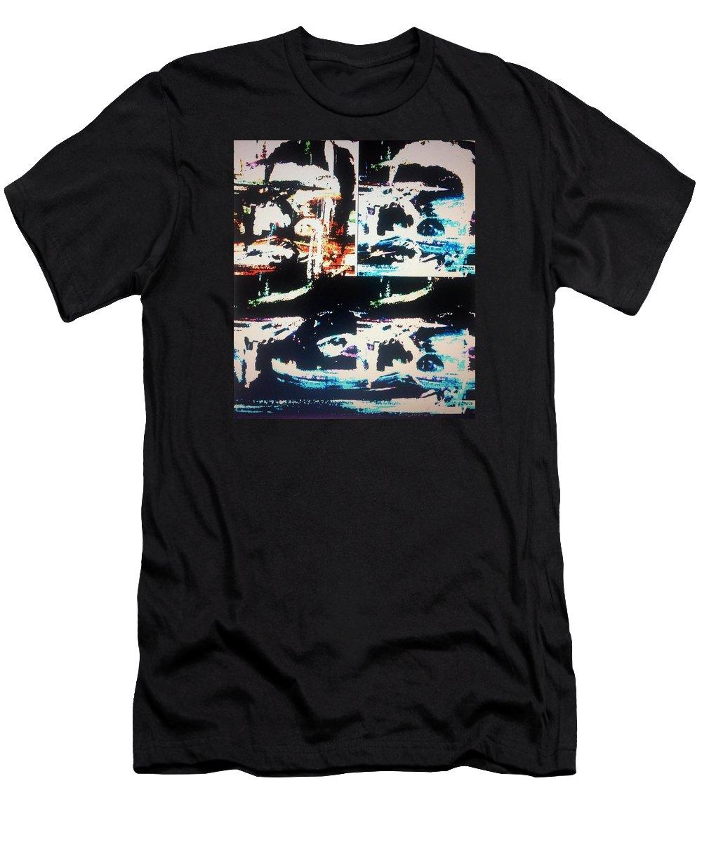 Alien Men's T-Shirt (Athletic Fit) featuring the painting Alien Abduction by Judith Desrosiers