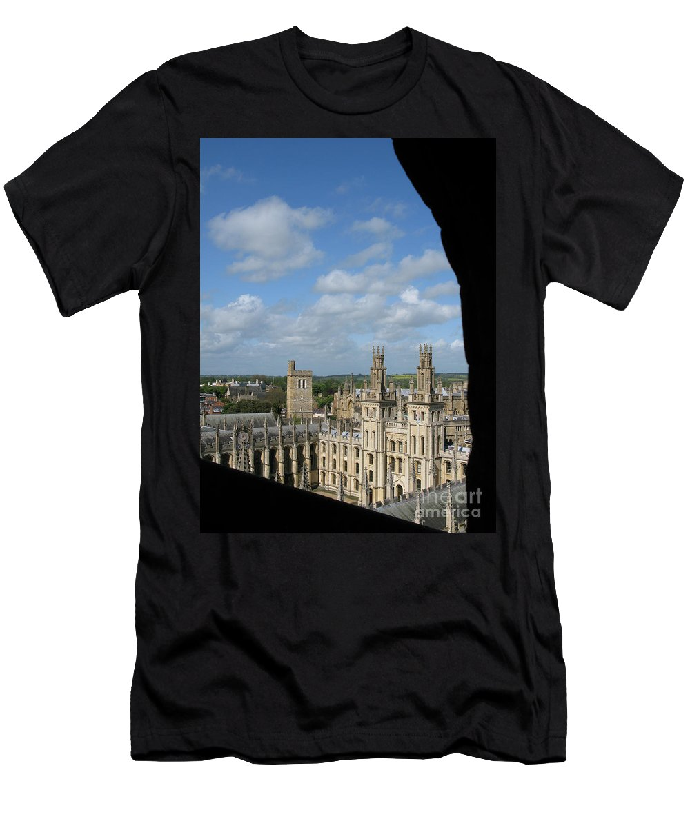 Oxford University Men's T-Shirt (Athletic Fit) featuring the photograph All Souls College And Beyond by Ann Horn