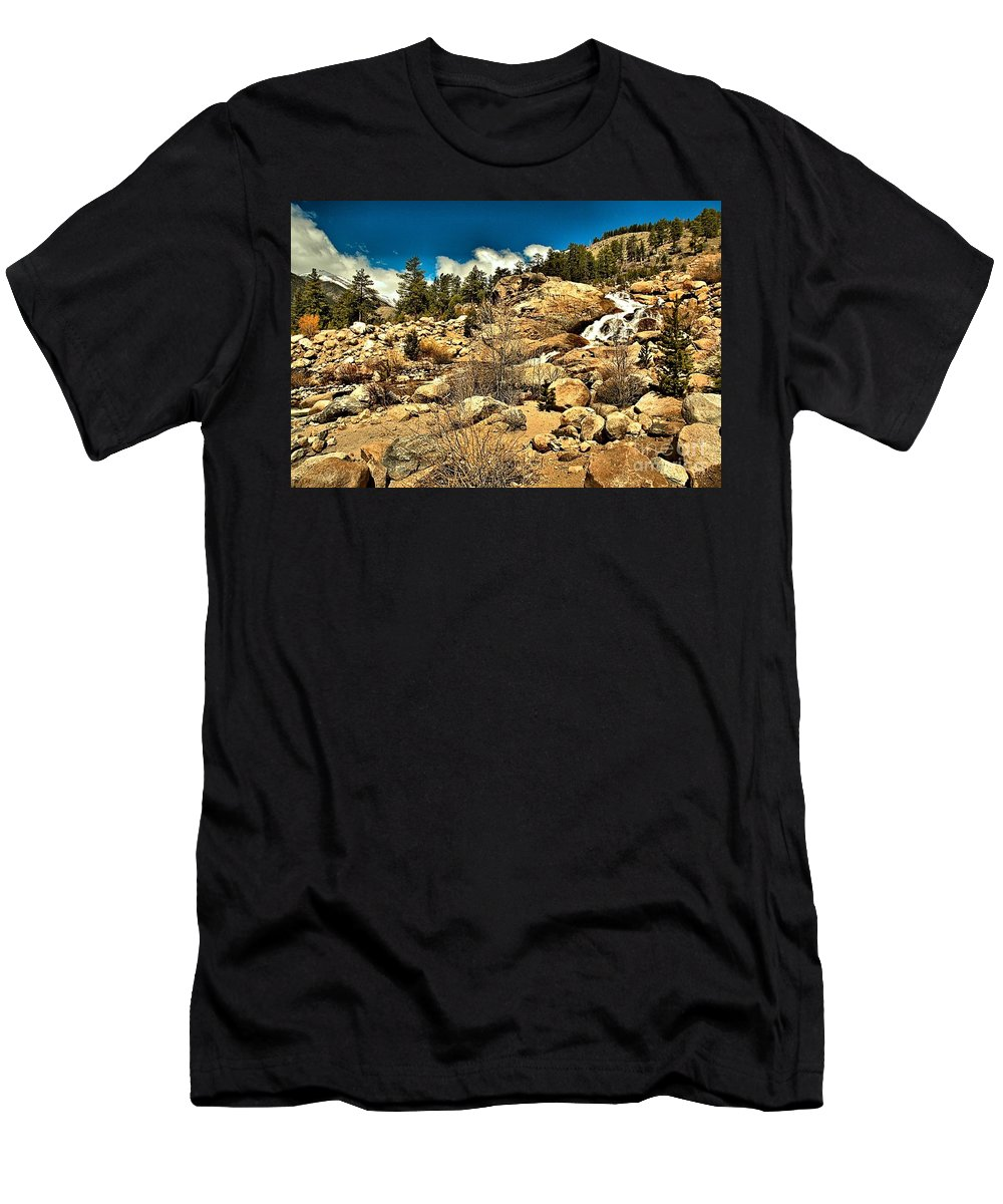Alluvial Fan Men's T-Shirt (Athletic Fit) featuring the photograph Alluvaial Fan by Adam Jewell