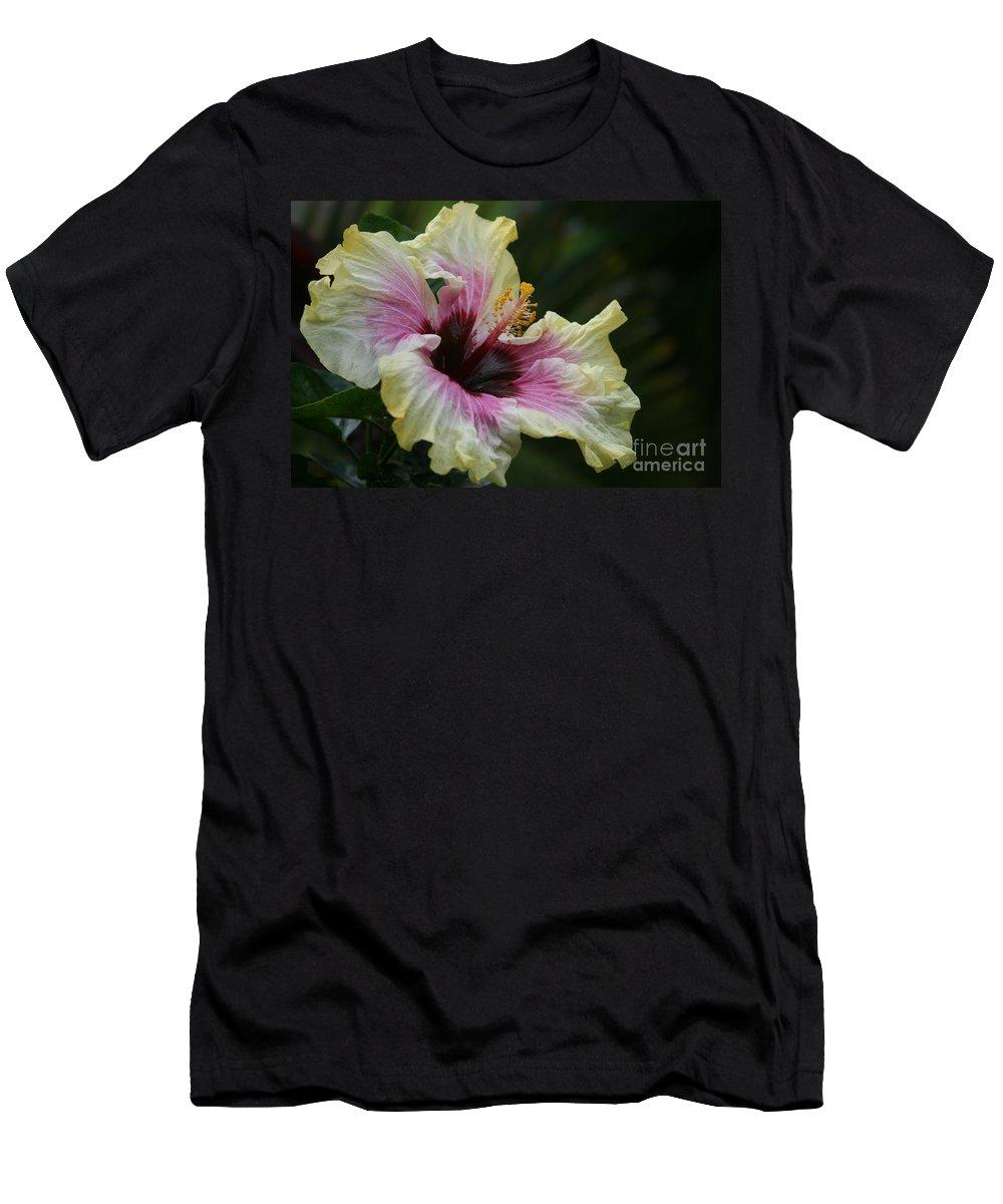 Aloha Men's T-Shirt (Athletic Fit) featuring the photograph Aloha Aloalo Tropical Hibiscus Haiku Maui Hawaii by Sharon Mau