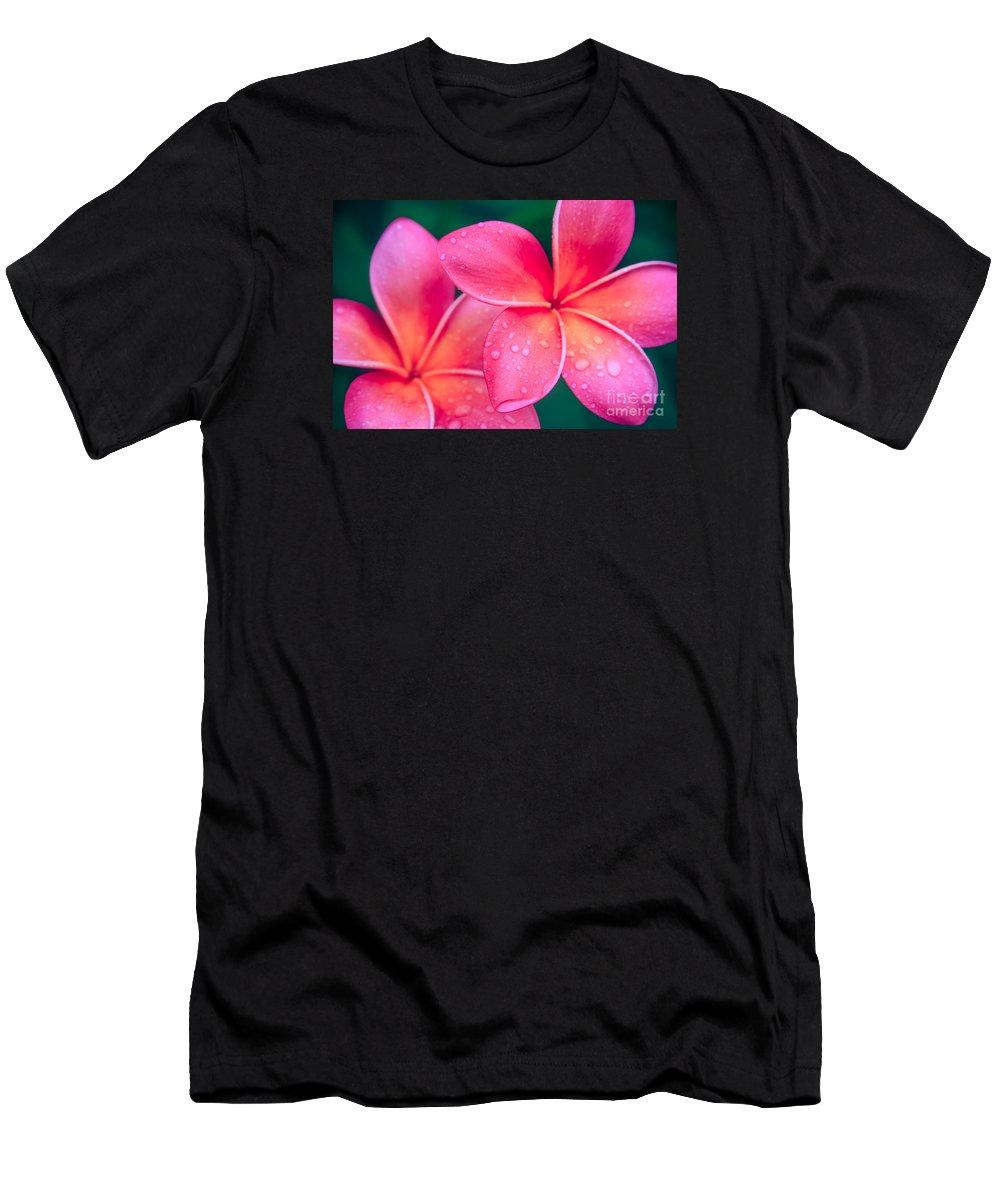Aloha Men's T-Shirt (Athletic Fit) featuring the photograph Aloha Hawaii Kalama O Nei Pink Tropical Plumeria by Sharon Mau