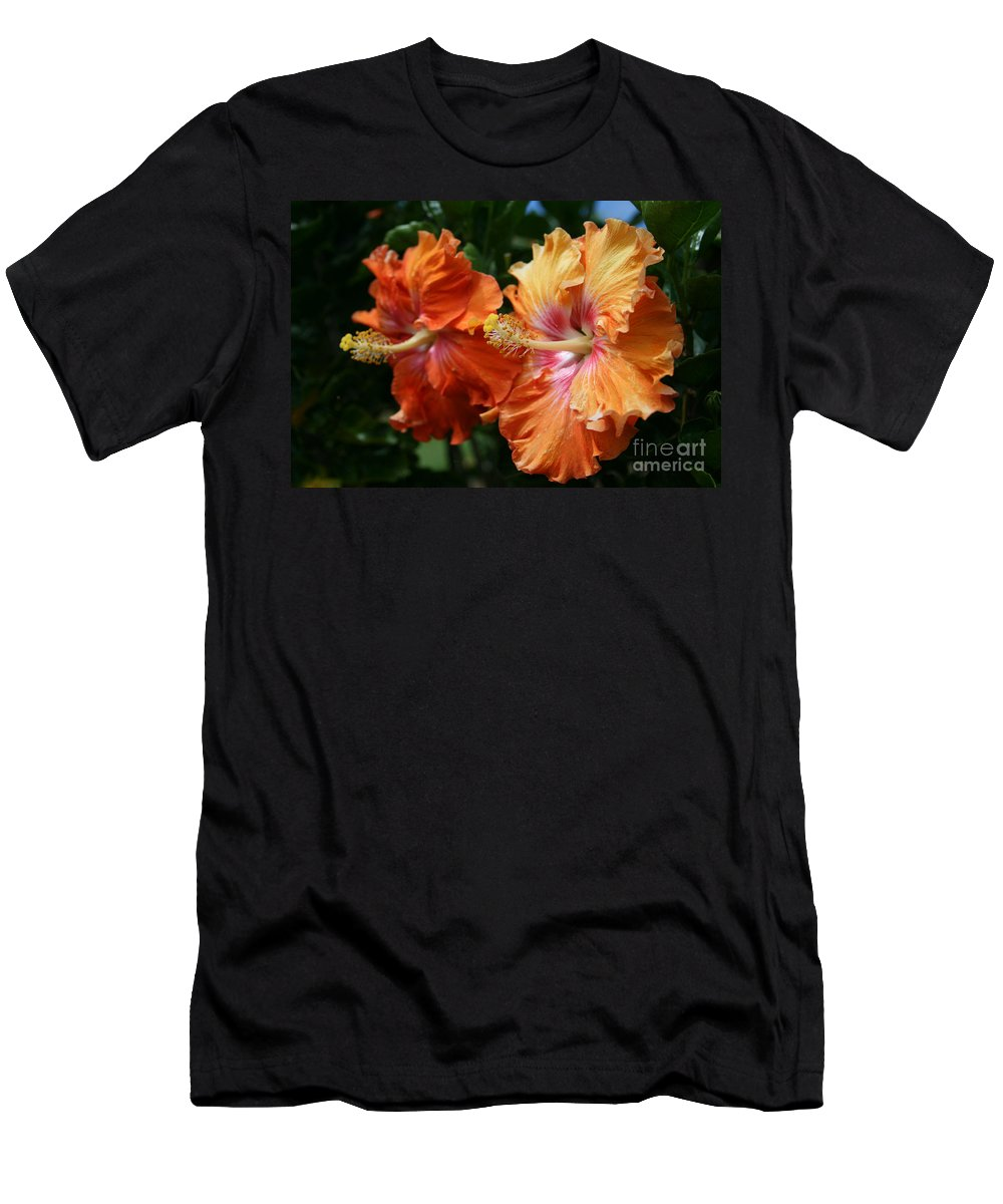 Aloha Men's T-Shirt (Athletic Fit) featuring the photograph Aloha Keanae Tropical Hibiscus by Sharon Mau
