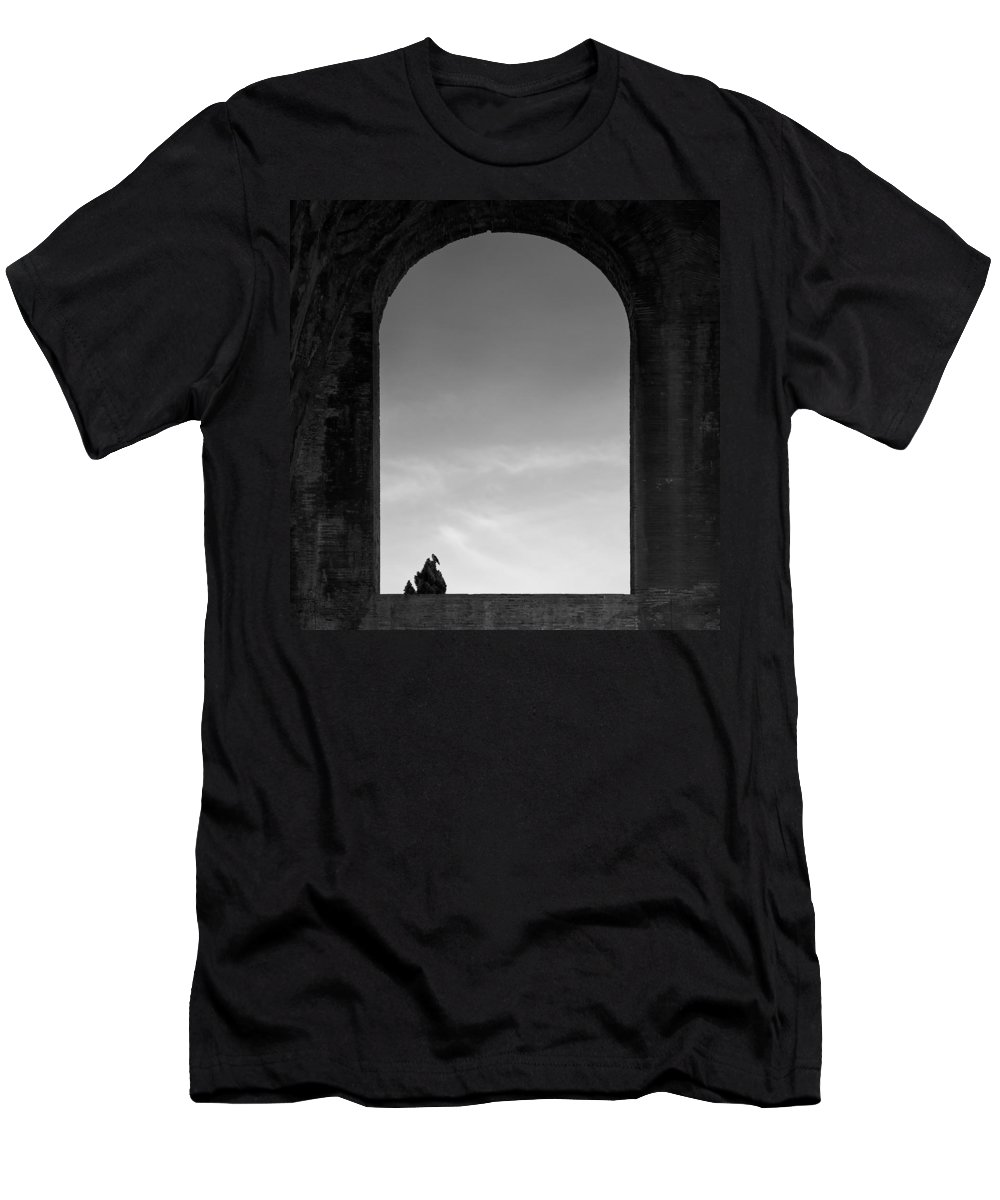 Bird Men's T-Shirt (Athletic Fit) featuring the photograph Alone by Dave Bowman