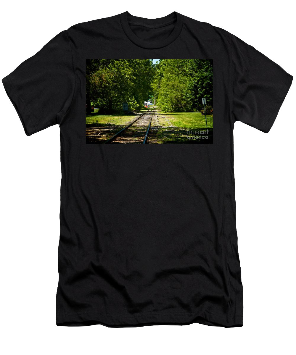 Phelps Men's T-Shirt (Athletic Fit) featuring the photograph Along The Rails by William Norton