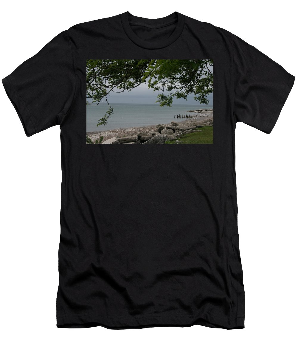 Landscape Men's T-Shirt (Athletic Fit) featuring the photograph Along The Shore by Kay Novy