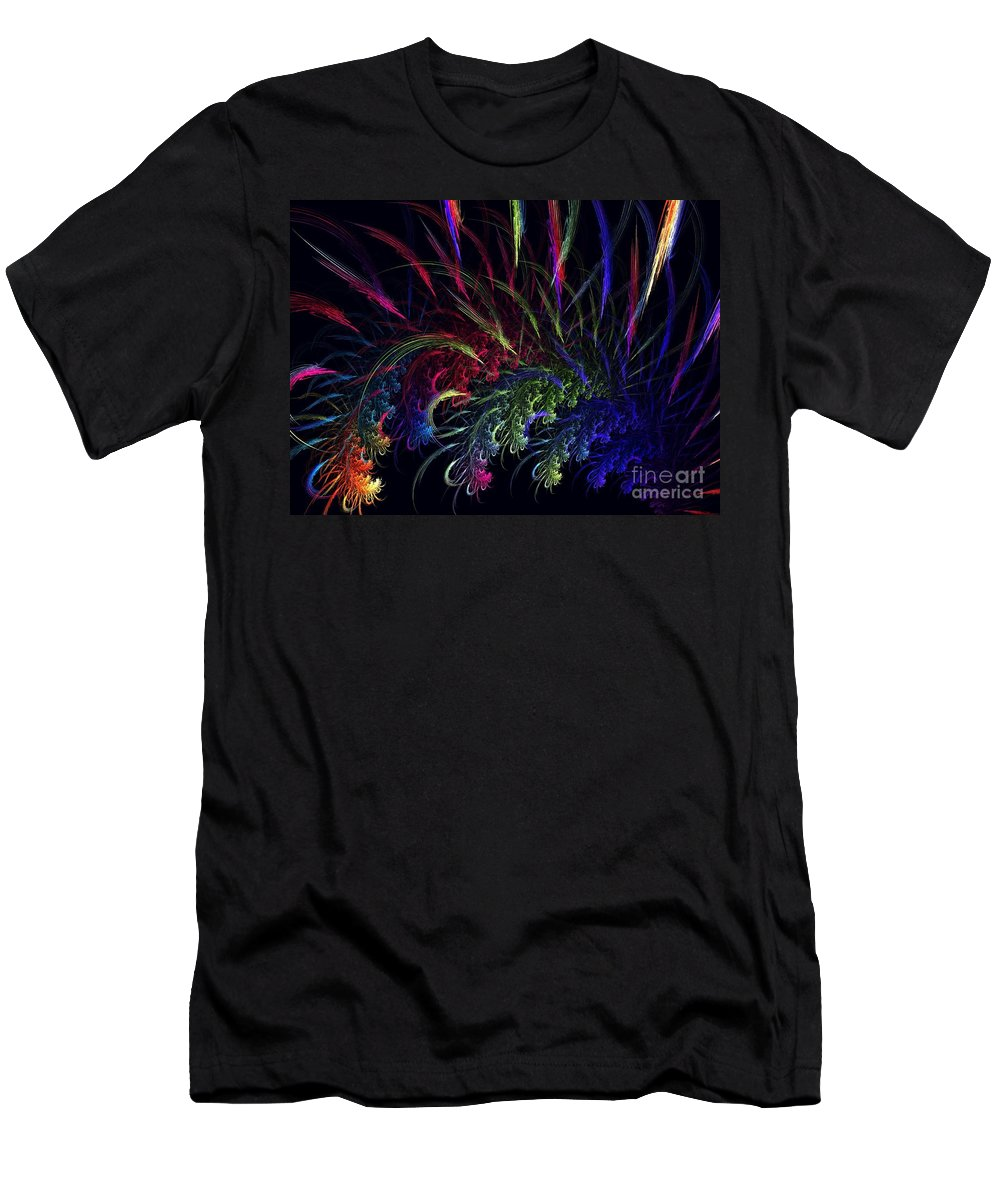 Apophysis Men's T-Shirt (Athletic Fit) featuring the digital art Alpha Persei by Kim Sy Ok